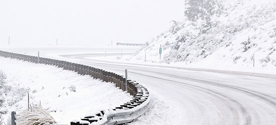 Trucking safety is highly important on snowy roads