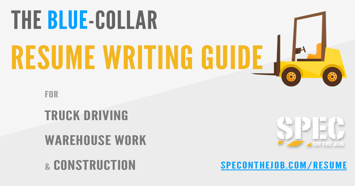 resume guide spec on the job