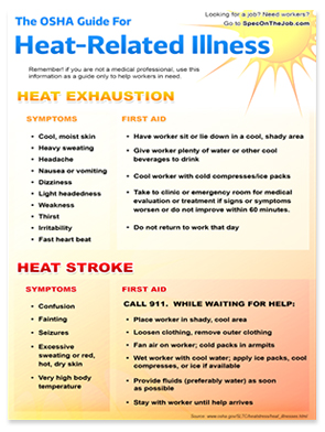 Heat exhaustion can lead to heat stroke, which can be fatal.